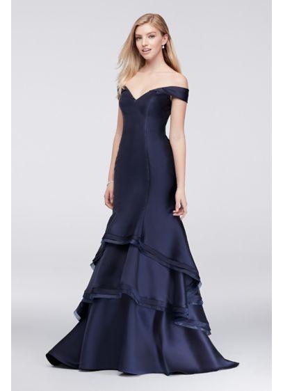 Long Mermaid/ Trumpet Off the Shoulder Formal Dresses Dress -