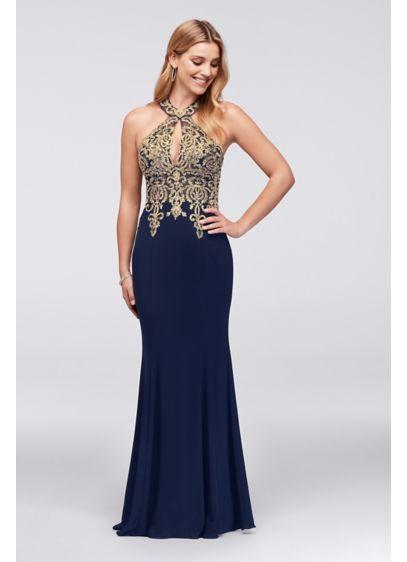 Long Sheath Halter Formal Dresses Dress - Xscape