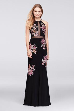 Black Halter Prom Dresses