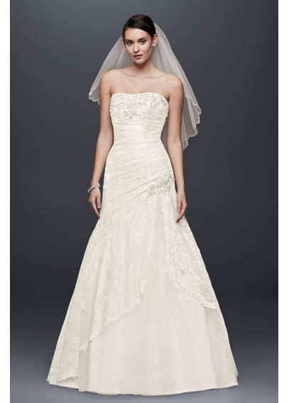 Strapless Lace A-line Gown with Side Split YP3344