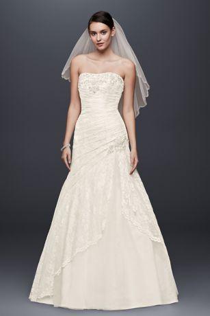 Long A Line Country Wedding Dress   Davidu0027s Bridal Collection