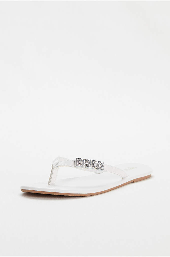 Zoey 'Bride' Flip Flop - Sport your new 'status' with this versatile and