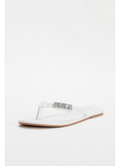 David's Bridal White (Zoey 'Bride' Flip Flop)