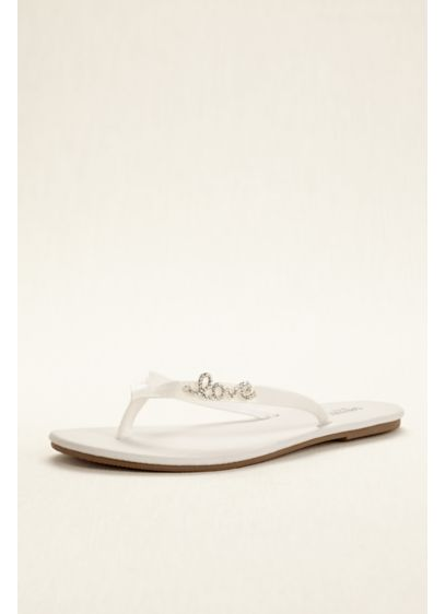 David's Bridal White (Zoey Flip Flop)