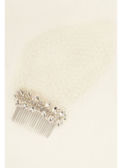 Truly Zac Posen Crystal Comb Russian Tulle Blusher - Wedding Accessories
