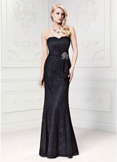 Long Black Soft & Flowy Truly Zac Posen Bridesmaid Dress