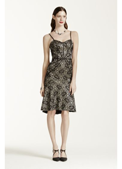 Short Sheath Spaghetti Strap Cocktail and Party Dress - Truly Zac Posen