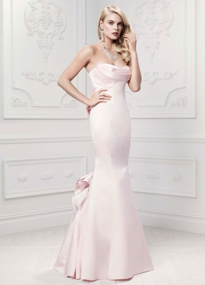 Long Mermaid Gown with Draped Neckline ZP281437