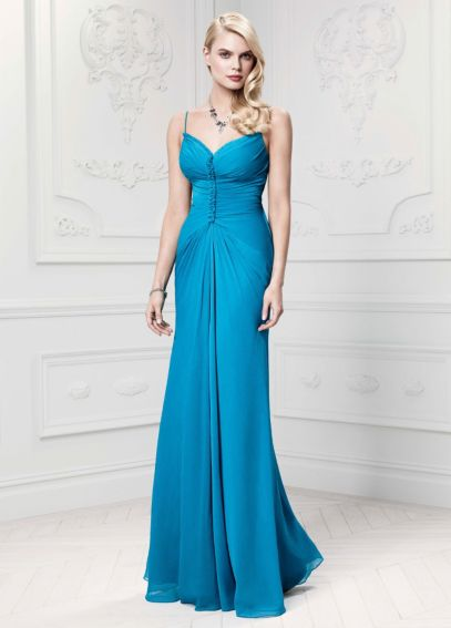 Long Soft Crinkle Chiffon Gown ZP281446