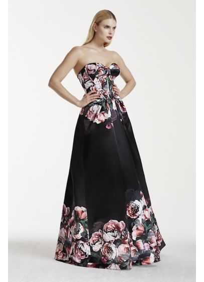 Long Black Structured Truly Zac Posen Bridesmaid Dress