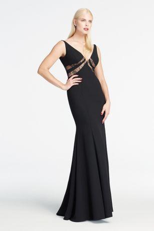 Black V-Neck Gowns