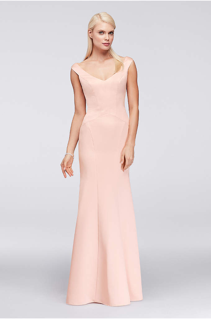 Portrait Neckline Satin Trumpet Gown - Figure-flattering seaming, a Truly Zac Posen signature detail,