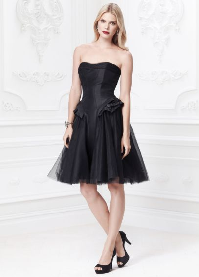 Short Taffeta Dress with Hip Detail ZP285024