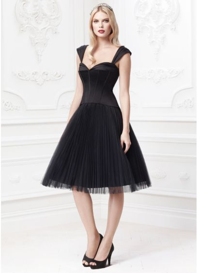 Short Ballgown Tank Cocktail and Party Dress - Truly Zac Posen