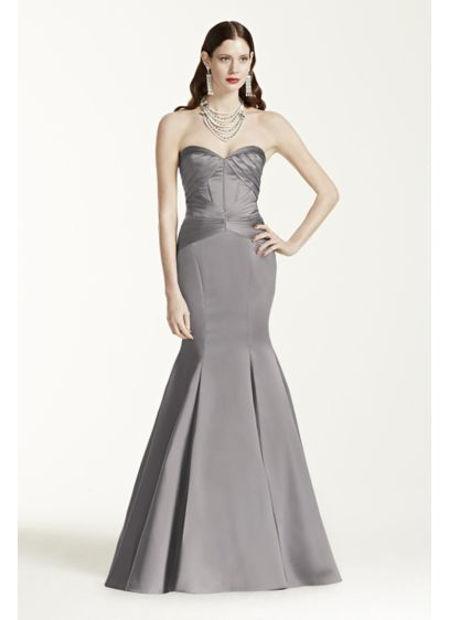Long Mermaid/ Trumpet Strapless Military Ball Dress - Truly Zac Posen