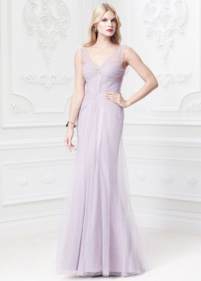 Long Soft Ruffle Tank Dress with Corset Detailing ZP285039