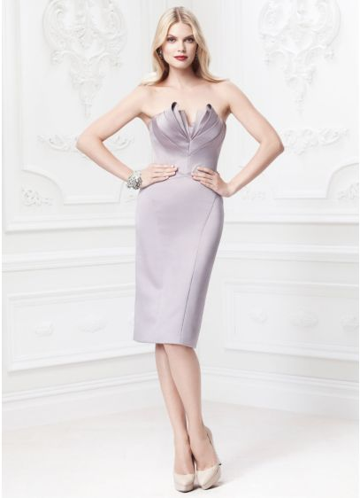 Short Sheath Strapless Dress - Truly Zac Posen