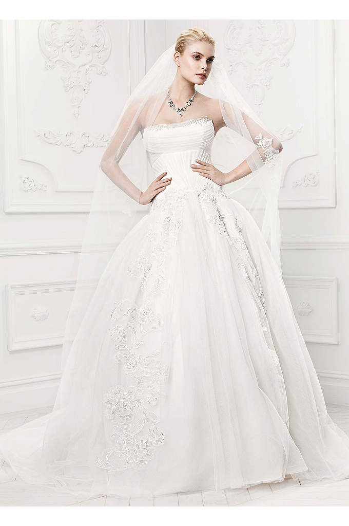 Truly Zac Posen Tulle Wedding Dress with Draping - This sensational ball gown will bring a charming