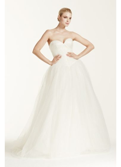 Truly zac posen wedding dress with sequin detail davids for Zac posen wedding dresses sale