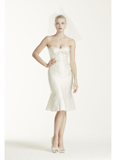 Short Sheath Modern Chic Wedding Dress - Truly Zac Posen