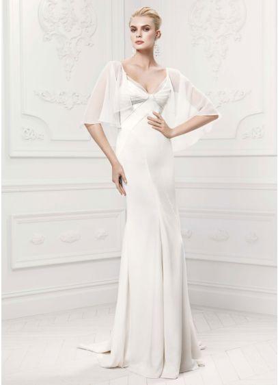 Long Sheath Simple Wedding Dress - Truly Zac Posen