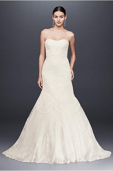 Truly Zac Posen Geometric Corded Wedding Dress