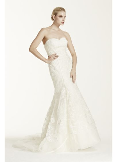 Truly zac posen tulle mermaid wedding dress david 39 s bridal for Zac posen wedding dresses sale