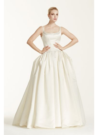 Truly zac posen satin wedding dress with pleating david for Zac posen wedding dress price