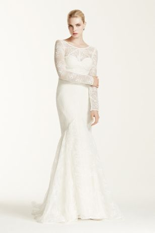 Lace long sleeve wedding dress pictures