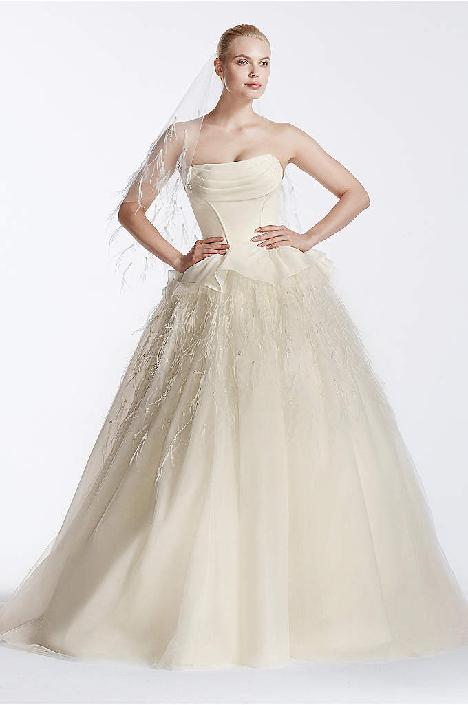 Truly Zac Posen Corseted Organza Wedding Dress - Complete the modern fairy tale wedding of your