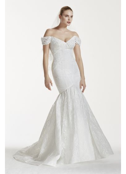 Truly zac posen lace v back wedding dress davids bridal for Truly zac posen wedding dress with sequin detail