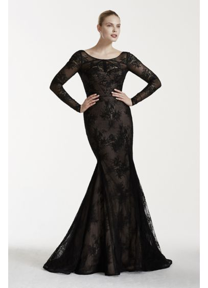 Truly zac posen lace wedding dress with sleeves david 39 s for Zac posen wedding dresses sale