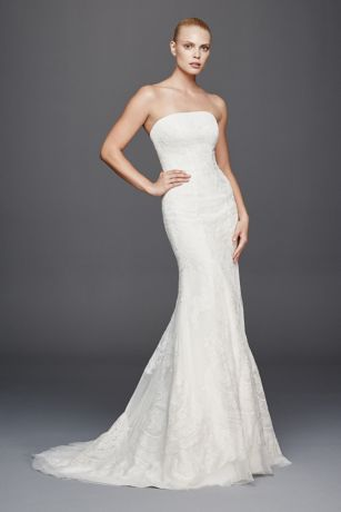 Truly Zac Posen Strapless Lace Wedding Dress Davids Bridal