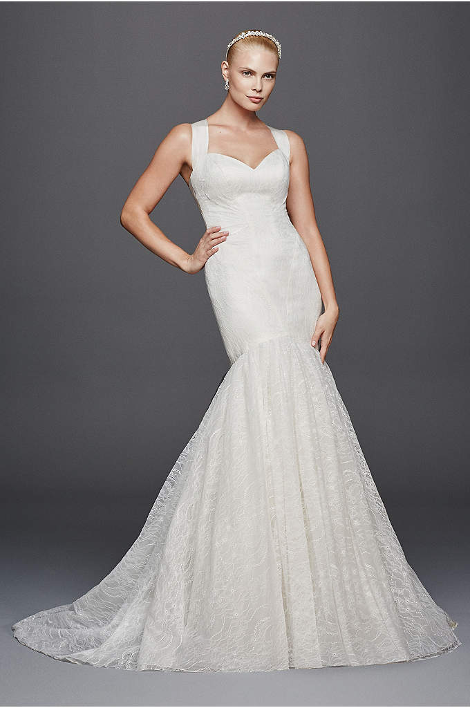 Truly Zac Posen Criss Cross Back Wedding Dress - This alluring mermaid wedding dress features Zac Posen's