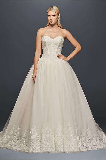 Truly Zac Posen Corset Wedding Ball Gown