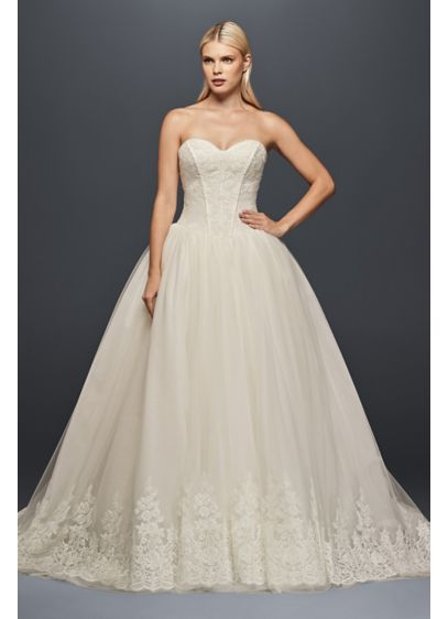 Truly zac posen corset wedding ball gown david 39 s bridal for Zac posen wedding dress price