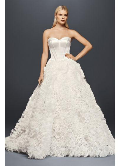 Truly zac posen ruffled organza wedding dress david 39 s bridal for Zac posen wedding dresses sale