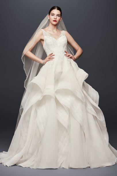truly zac posen horsehair tier skirt wedding dress david s bridal