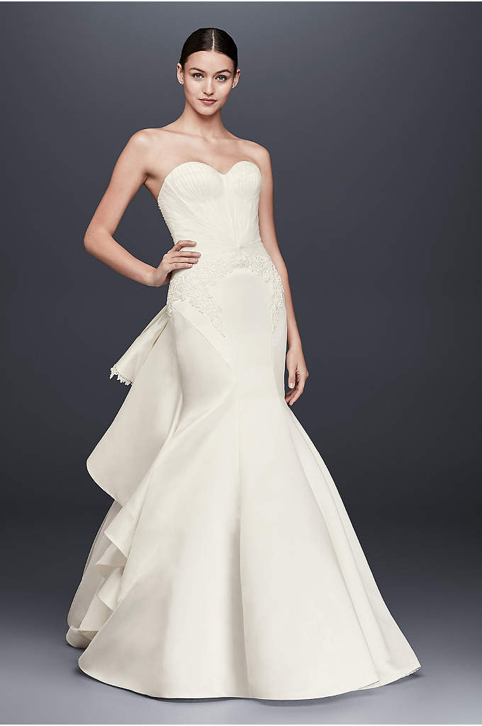 Truly Zac Posen Strapless Satin Wedding Dress - This Truly Zac Posen duchess satin wedding dress