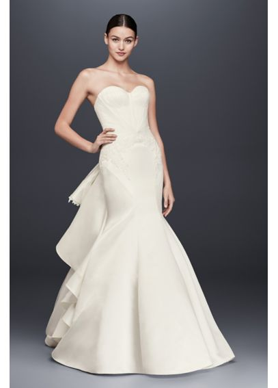 Truly Zac Posen Strapless Satin Wedding Dress ZP345004