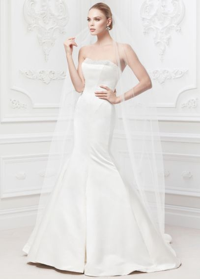 Truly Zac Posen Wedding Dress with Pearl Details ZP345008