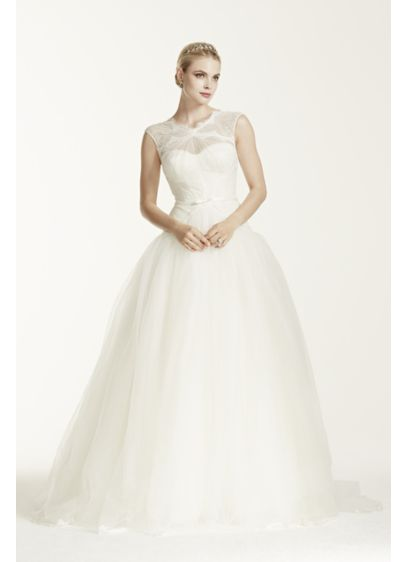 Truly zac posen lace and tulle wedding dress davids bridal long ballgown modern chic wedding dress truly zac posen junglespirit