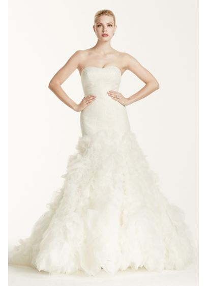 Truly zac posen lace mermaid wedding dress david 39 s bridal for Zac posen wedding dress price