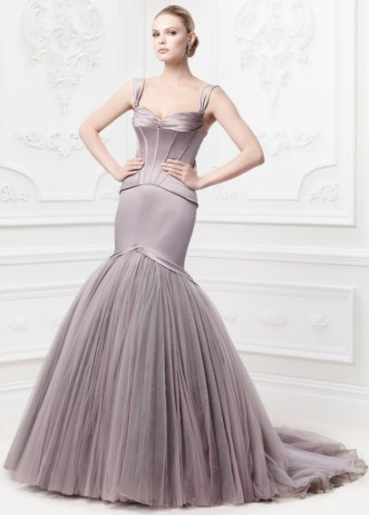Truly zac posen corseted satin wedding dress davids bridal for Zac posen wedding dresses sale