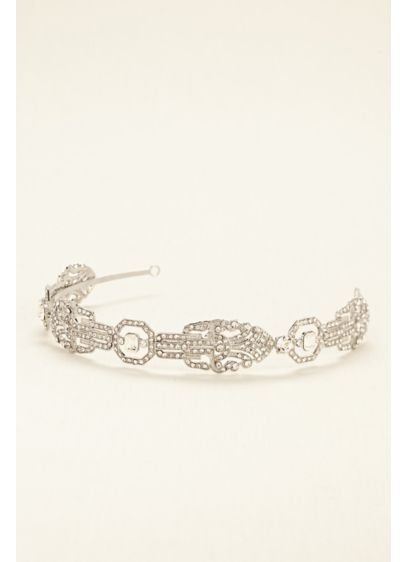 Truly Zac Posen Geometric Jeweled Hard Headband - Wedding Accessories