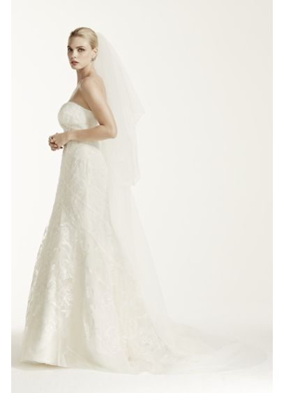 Two Tier Scalloped Edge Veil - Wedding Accessories
