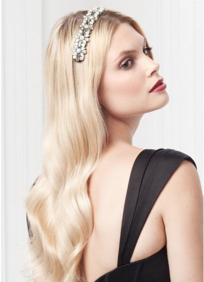 Crystal Geometric Stretch Headband - Wedding Accessories