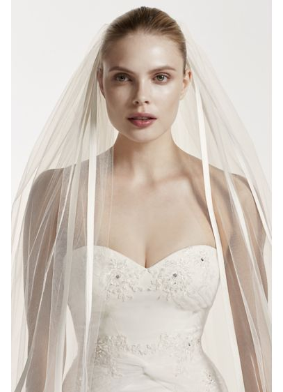 Truly Zac Posen Cathedral Veil with Satin Edge - Wedding Accessories