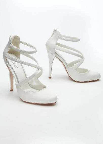 Strappy Closed Toe Platform | David's Bridal