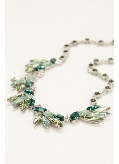 Emerald Crystal Chain Necklace - Wedding Accessories